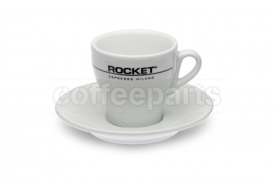 Rocket 180ml  Flat White/Tulip Coffee Cups (6 Cups/Saucers)