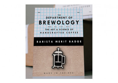 French Press badge – Department of Brewology