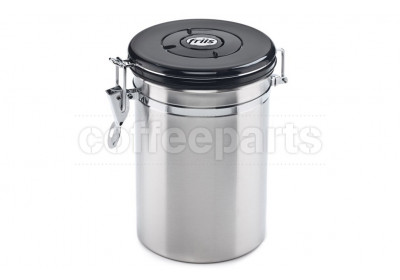 Friis Silver Coffee Storage Vault with One-Way Valve