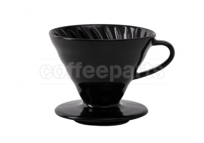 Hario 2-Cup V60 Kasuya Black Ceramic Coffee Dripper