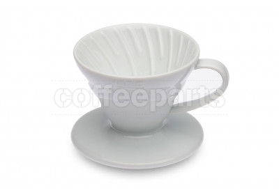 Hario 1-Cup V60 White Ceramic Coffee Dripper