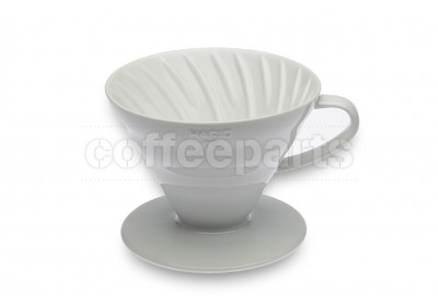 Hario 2-Cup V60 White Ceramic Coffee Dripper