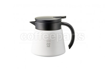 Hario V60 Insulated Stainless 600ml Server - White