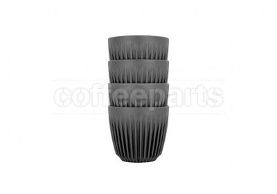 Huskee Cups 6oz Set of 4 : Charcoal