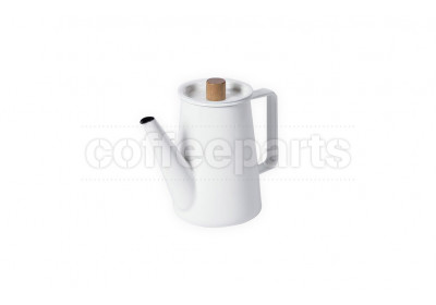 Kaico 1.3lt White Enameled Pour Over Drip Coffee Pot