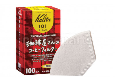 Kalita 101 Coffee Filters to fit Flat-V Coffee Drippers (100 Pack)