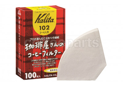 Kalita 102 Coffee Filters to fit Flat-V Coffee Drippers (100 Pack)