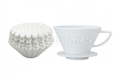 Kalita 185 Ceramic Dripper inc Wave Filter Kit