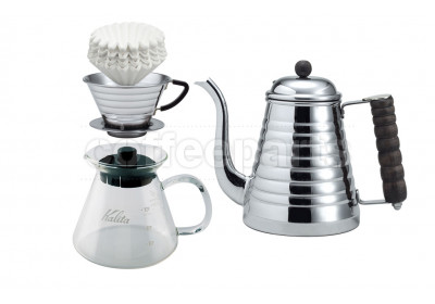 Kalita 185 Stainless Wave Dripper Filter Set