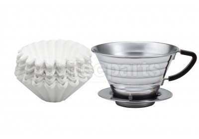 Kalita Stainless 185 Dripper With Wave Filter Kit