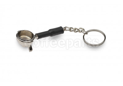 Portafilter keyring with double spout - silver