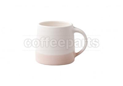 Kinto 320ml Porcelain Mug : White and Pink Beige