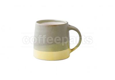 Kinto 320ml Porcelain Mug : Moss Green and Yellow