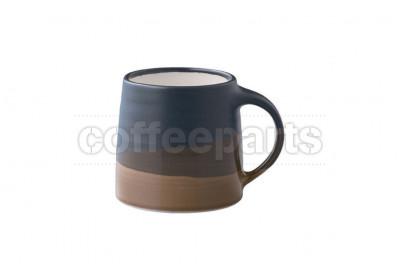 Kinto 320ml Porcelain Mug : Black and Brown