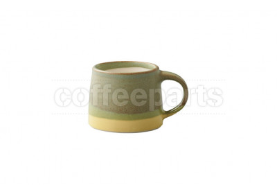 Kinto 110ml Porcelain Mug : Moss Green and Yellow