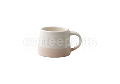 Kinto 110ml Porcelain Mug : White and Pink Beige