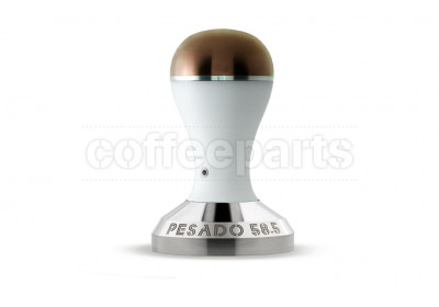 Pesado 58.5mm Coffee Tamper : White and Bronze Modular