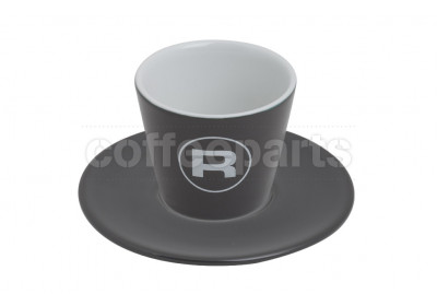 Rocket 180ml Porta Via Charcoal Grey Coffee Cups (6 Cups/Saucers)