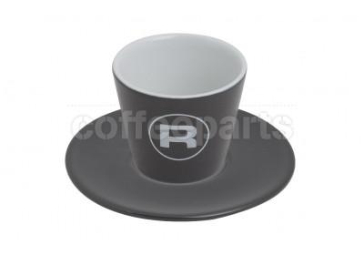 Rocket 180ml Porta Via Charcoal Grey Coffee Cups (6 Cups/Saucers)