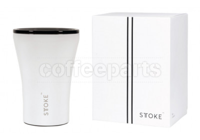 Sttoke Ceramic Reusable Cup 8oz Cup : White