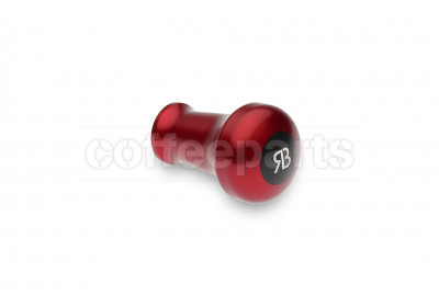 Reg Barber tamper handle only: red anodised handle and black delron