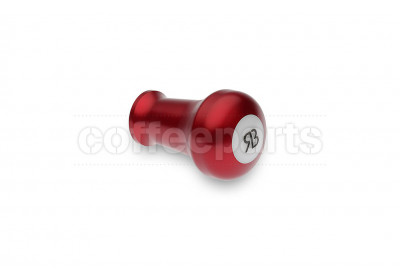 Reg Barber tamper handle only: red anodised handle and white delron