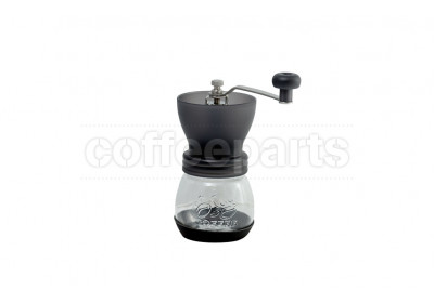Tiamo Glass Black Hand Coffee Grinder