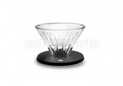 Timemore 1-Cup Black Metal Crystal Eye Glass Coffee Dripper