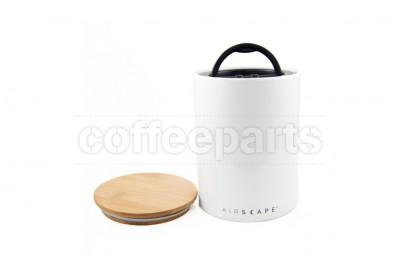Airscape Medium Ceramic Coffee Storage Vault : White