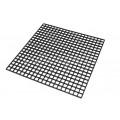 Black plastic grid 31x31cm
